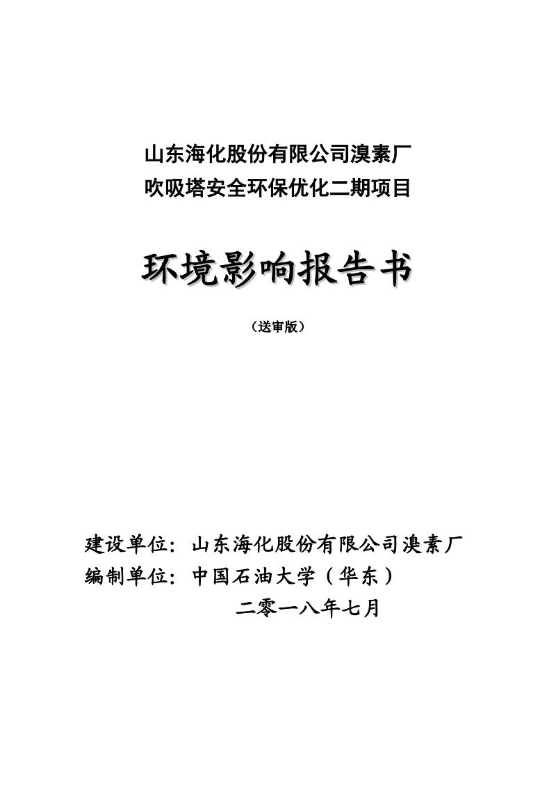 山东海化股份有限公司溴素厂环境影响报告书.pdf