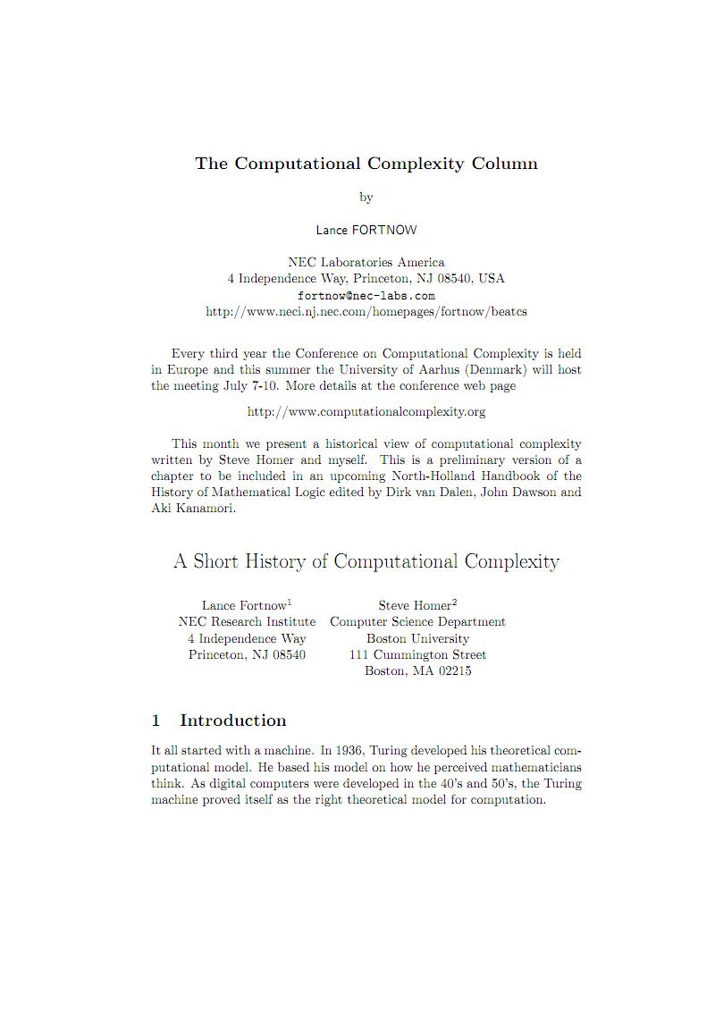 The Computational Complexity Column外文.pdf