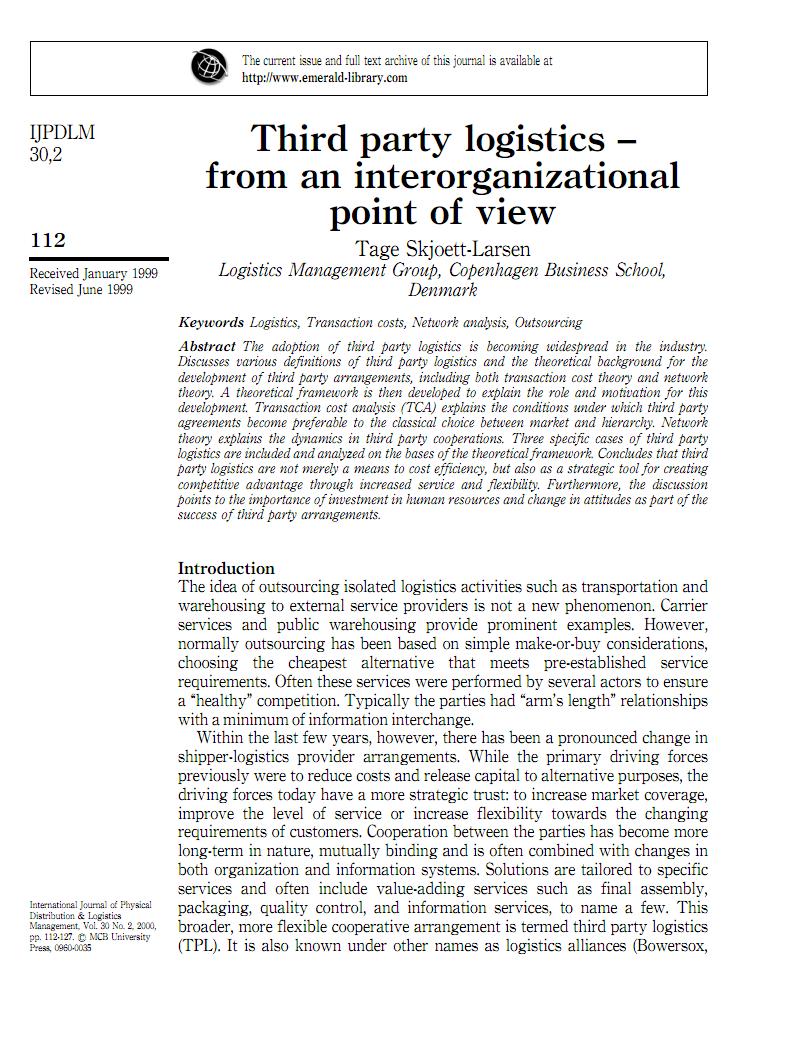 Third party logistics外文.pdf