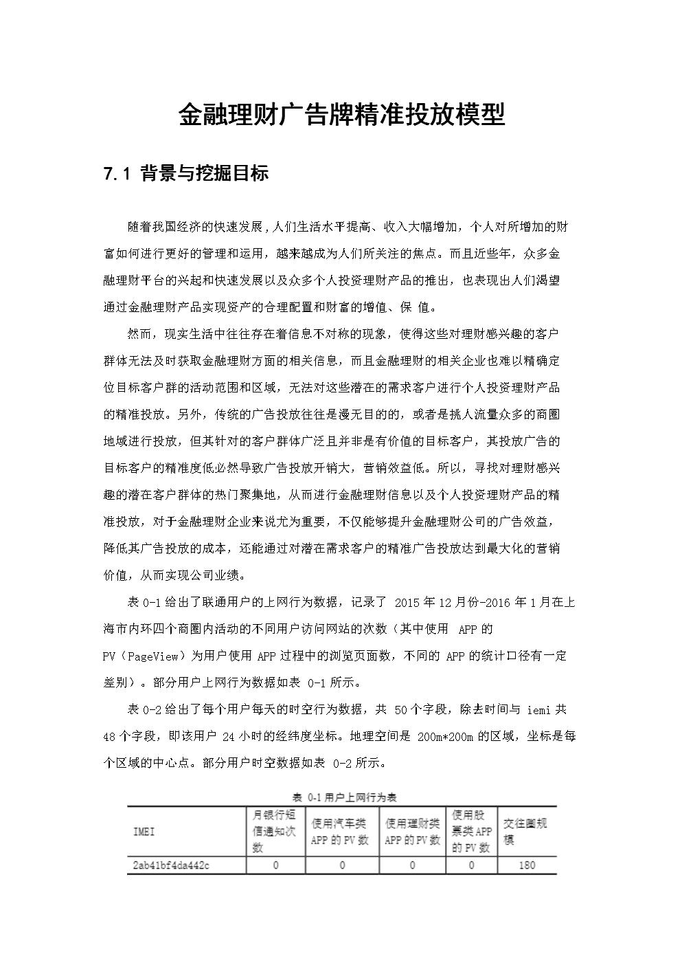 金融理财广告牌精准投放大数据模型.docx