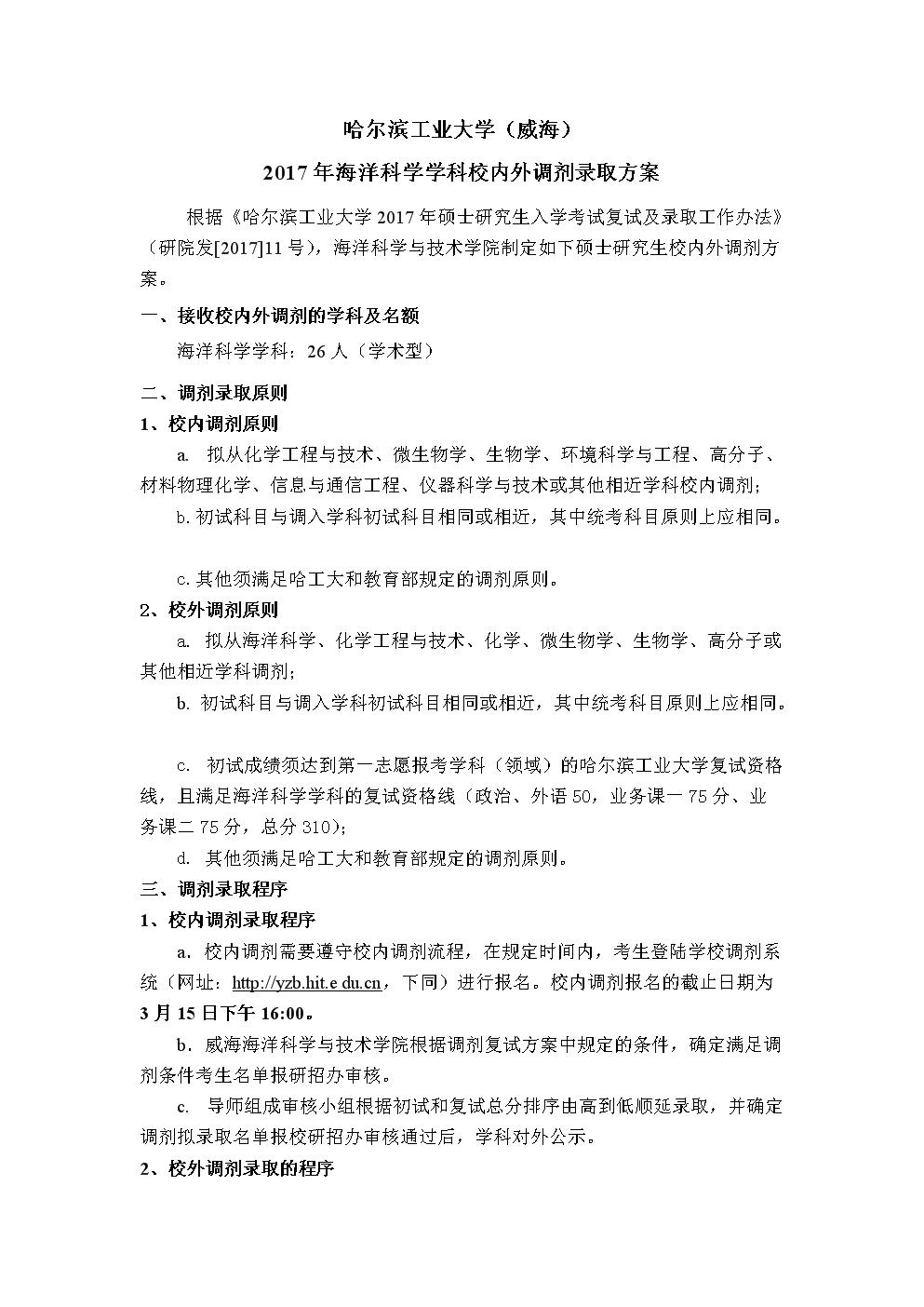 哈工大(威海)海洋科學學科(校內外.doc