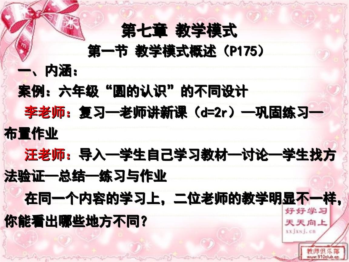 湖南第一师范学院课件与青蛙论教学第七章教学模式与快乐快乐小舞蹈课程视频教学图片