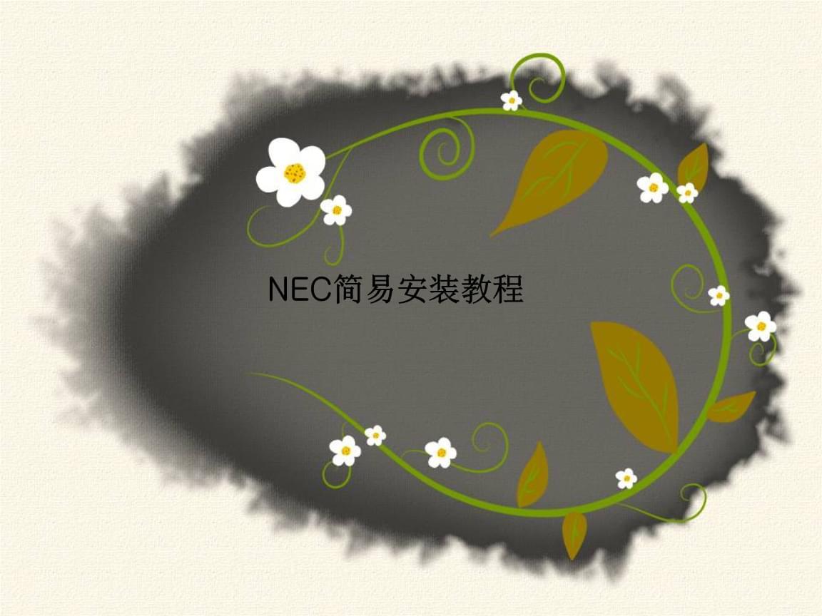 NEC小2k简易安装流程.ppt