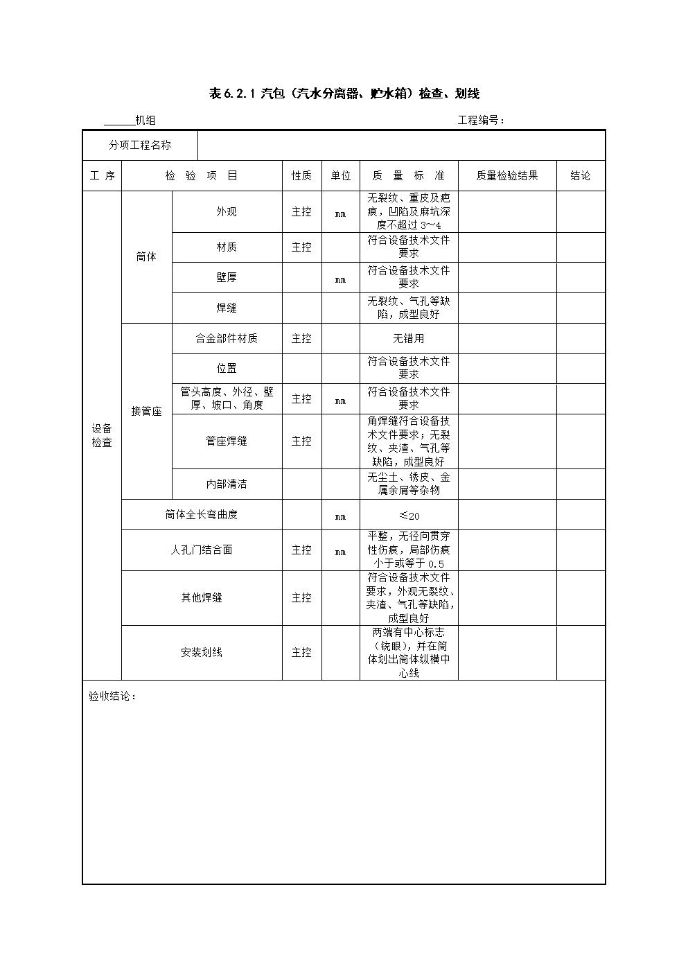锅炉本体安装2018最新电子版表格2(DL5210.2-2018).doc