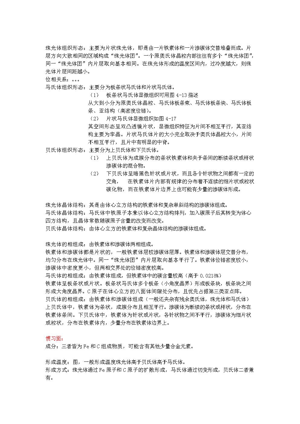 【实用资料】珠光体、马氏体和贝氏体的比较.doc