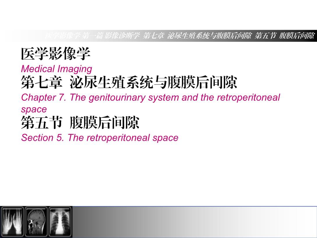 医学影像学(第7版)第7章第5节腹膜后间隙.ppt