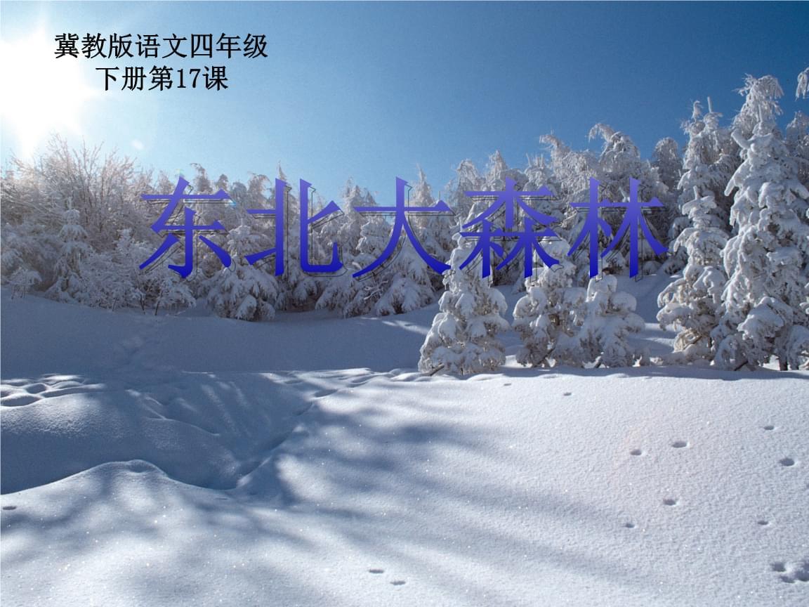 四年级下册语文东北大森林 冀教版 (2).pptx