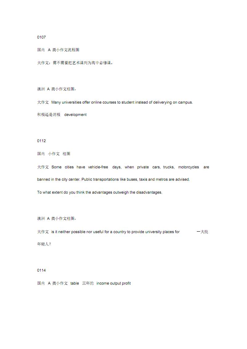 17年雅思写作真题汇总.pdf
