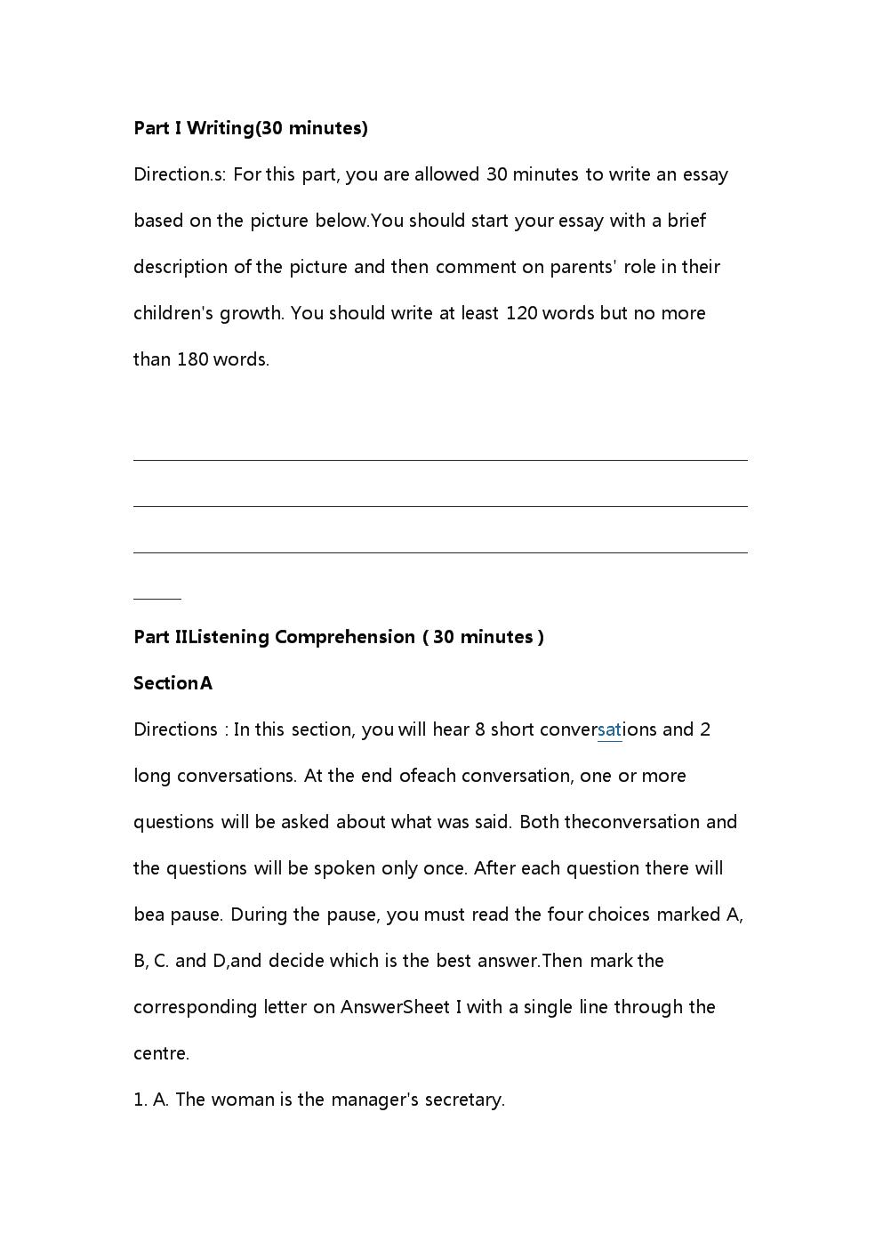 2015年6月大学英语四级考试真题(第三套).doc