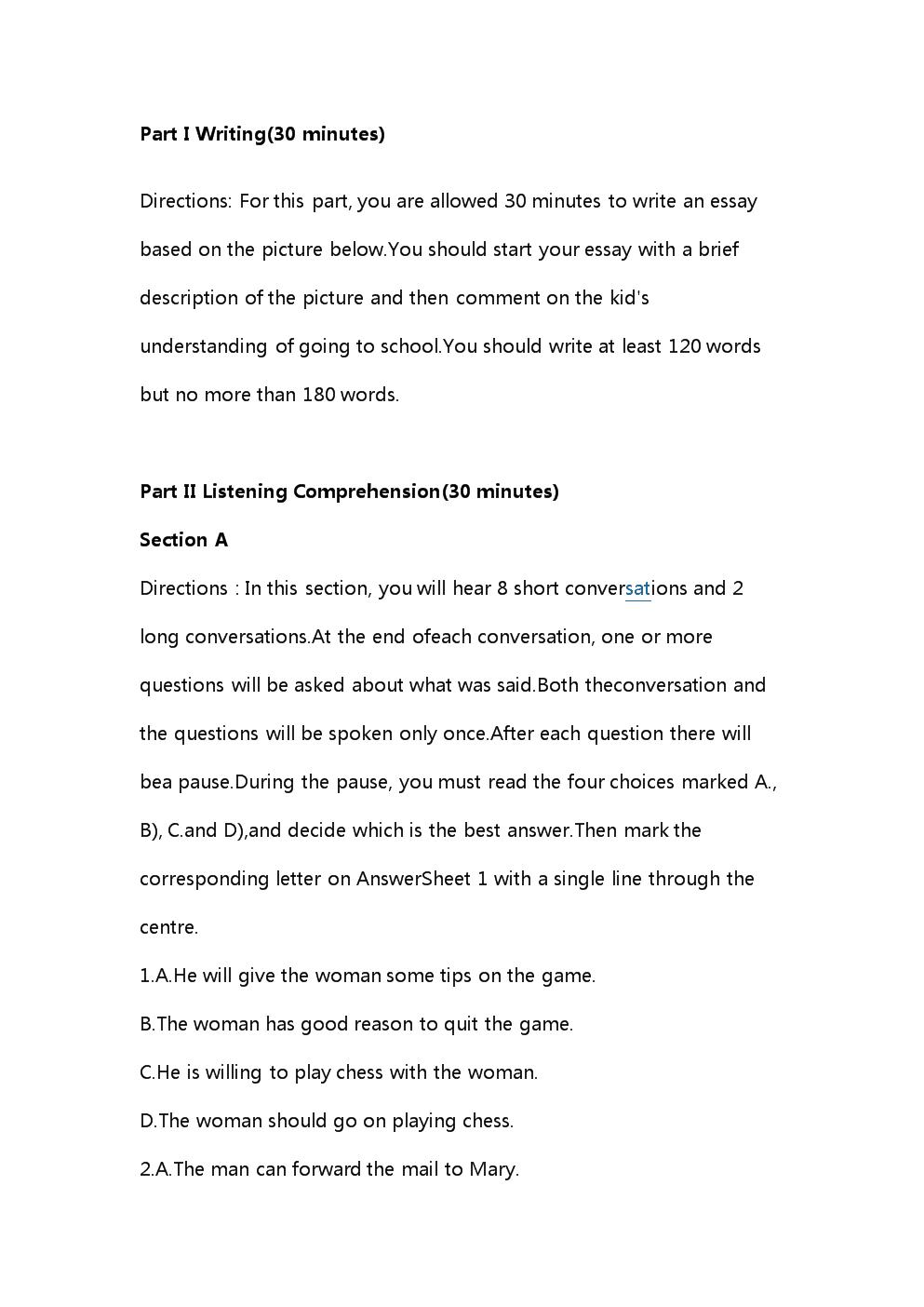 2015年6月大学英语四级考试真题(第一套).doc