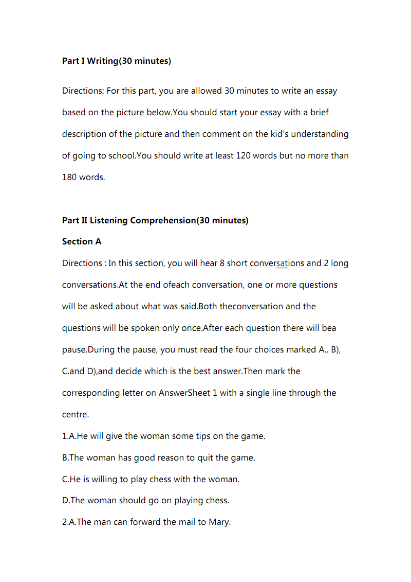 2015年6月大学英语四级考试真题(第一套).pdf