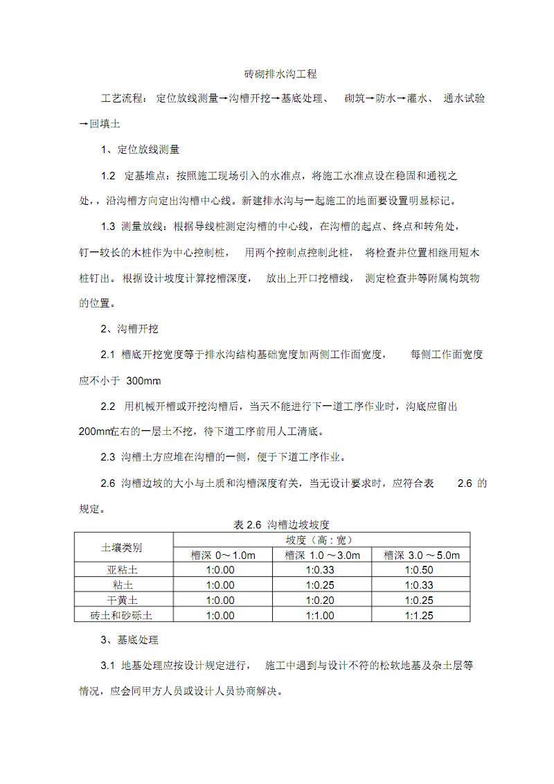 砖砌排水沟工程.pdf