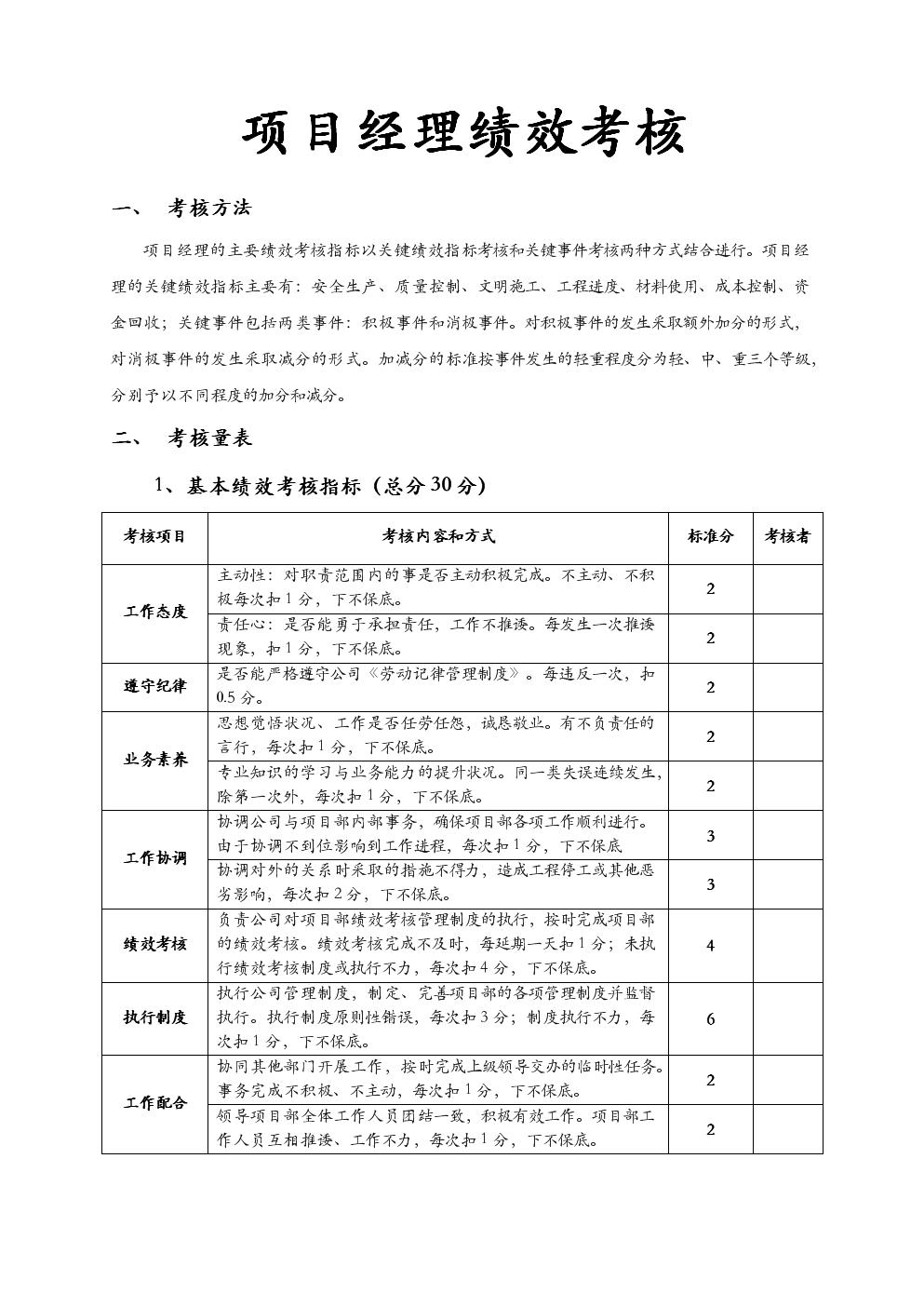 项目经理的绩效考核.doc