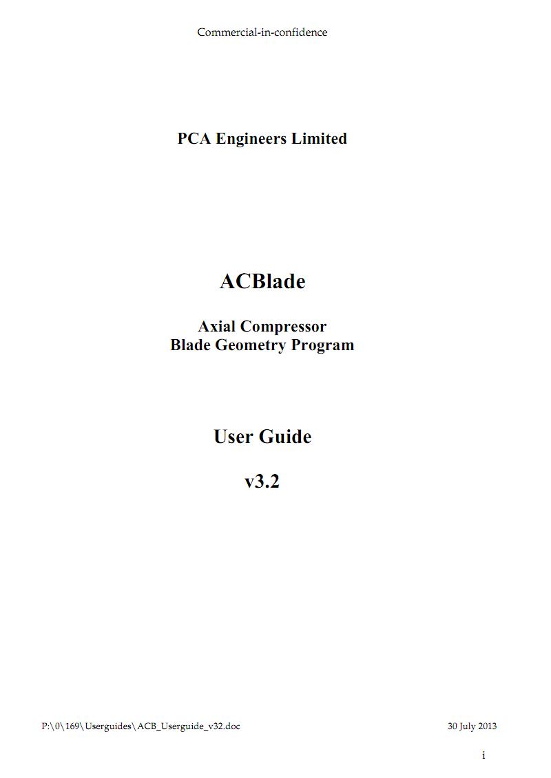 PCA Engineers公司轴流式压气机叶片几何造型程序ACBlade用户手册.pdf