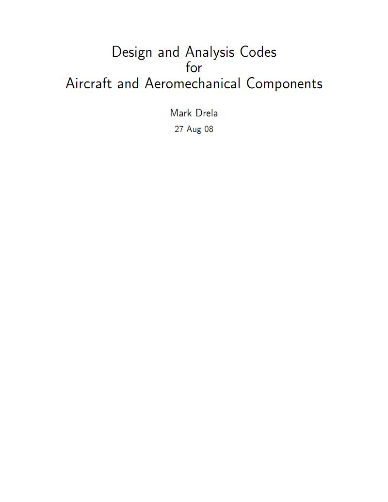 麻省理工学院飞机及气动机械部件设计与分析程序介绍.pdf
