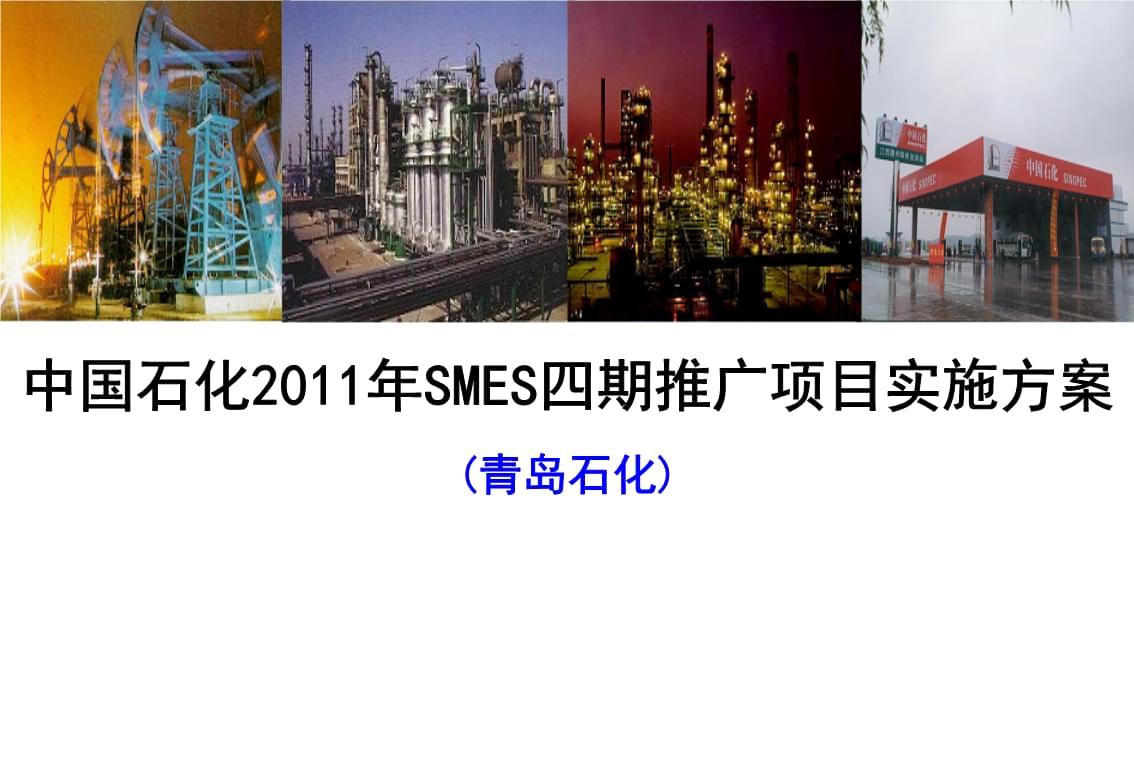 中国石化某某年SMES四期推广实施方案.ppt