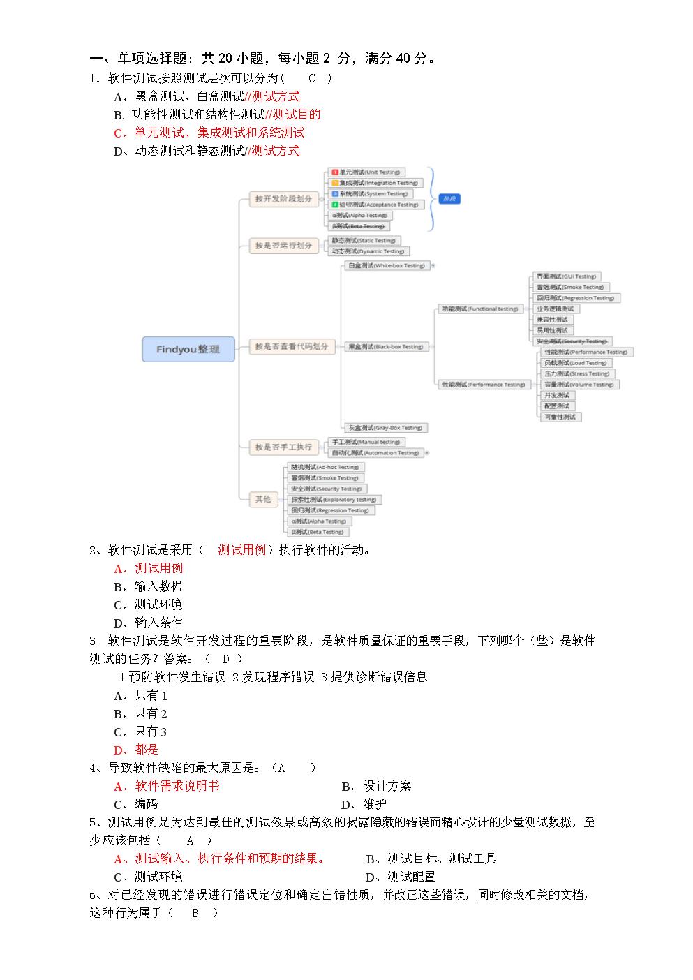 软件测试期末复习知识.doc