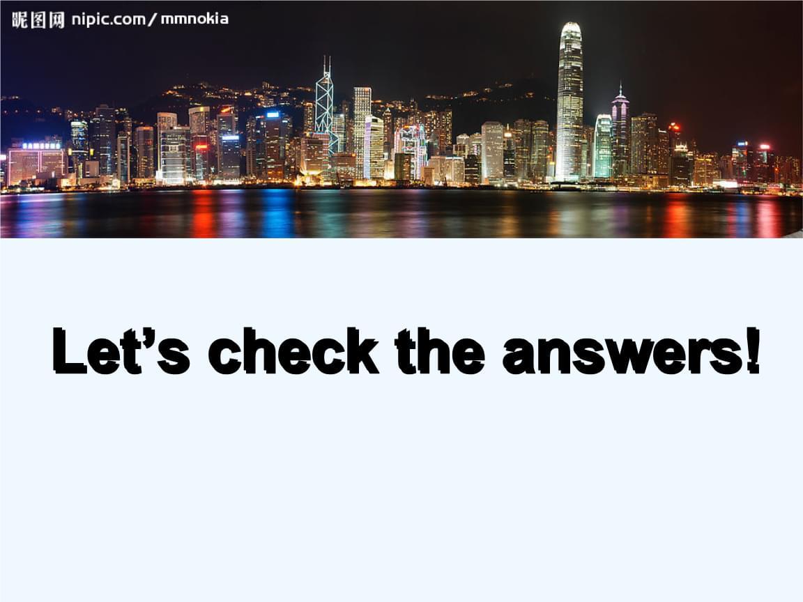综合英语知识Hong Kong课后的答案.ppt