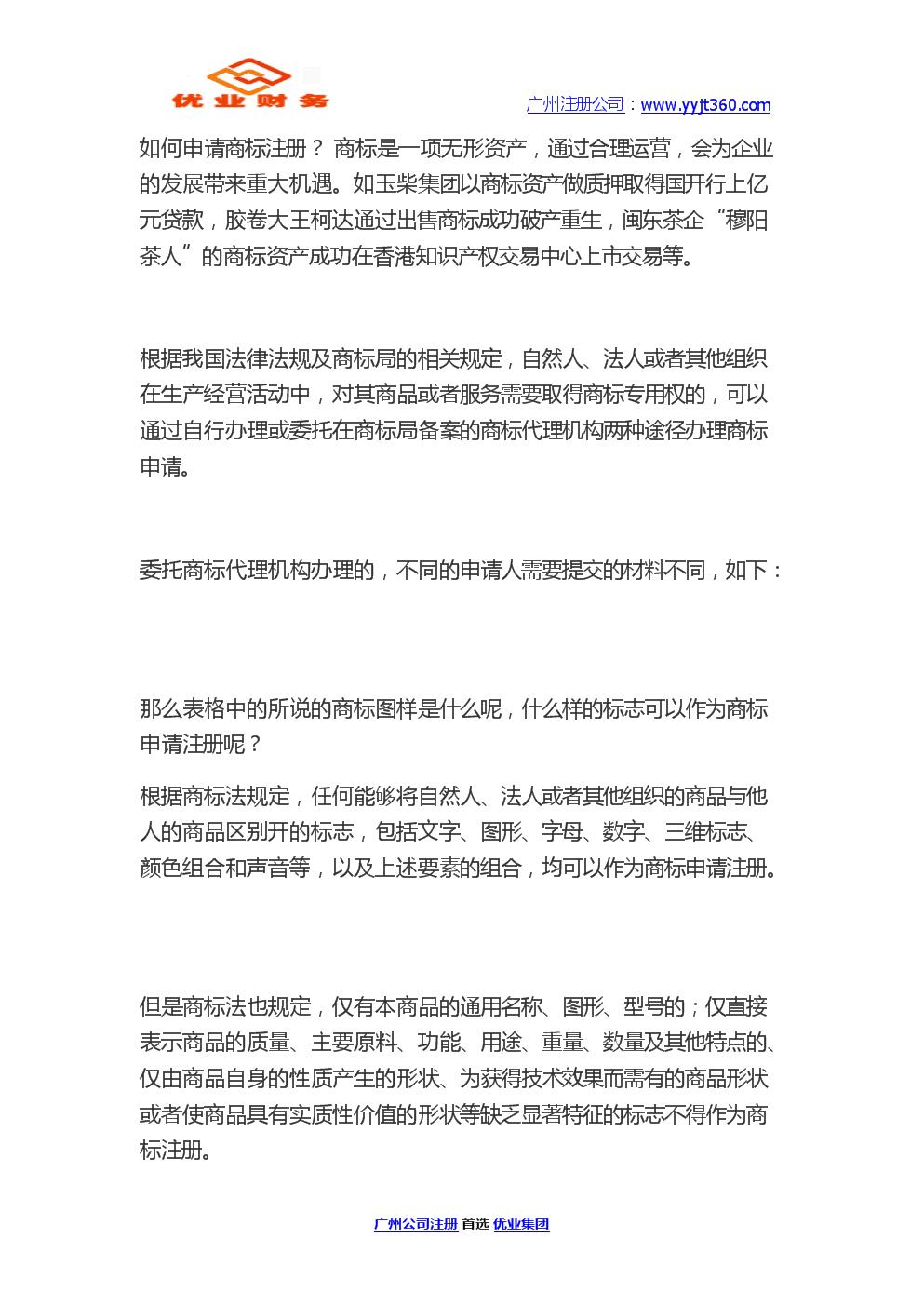 如何申请商标注册 优业集团.docx
