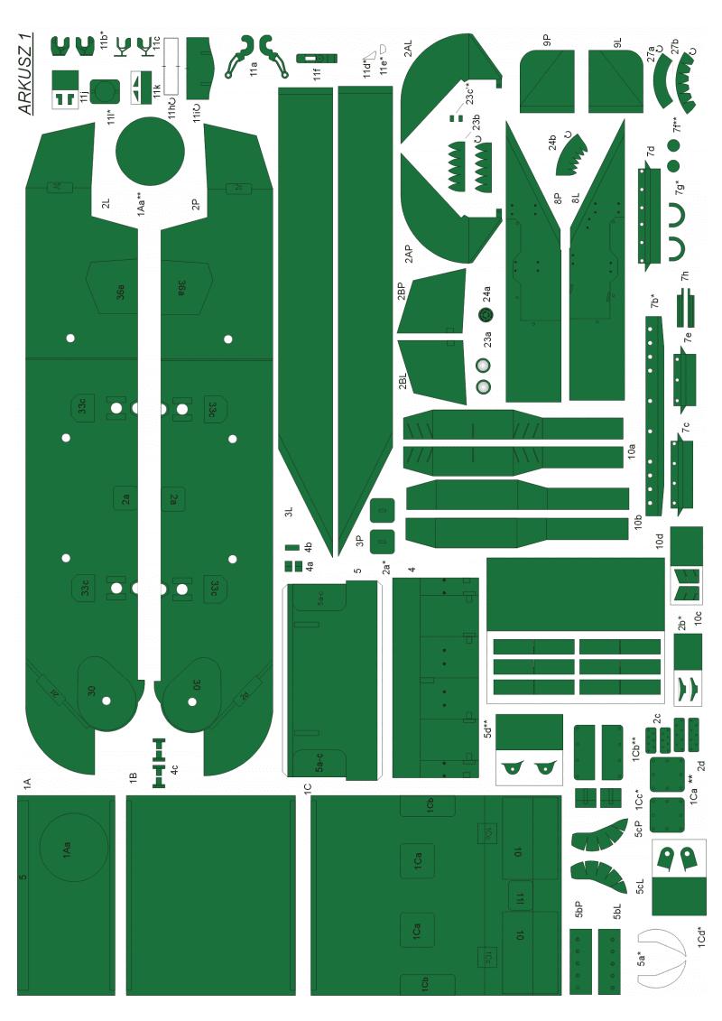 纸模模型图纸二战装甲车辆M5A1 Stuart VI坦克纸模.pdf