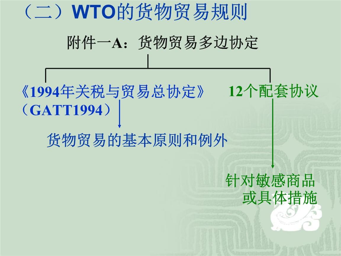 """中国政法大学·本科国际经济法·杨帆·WTO2(考研用,非""""法考""""内容).ppt"""