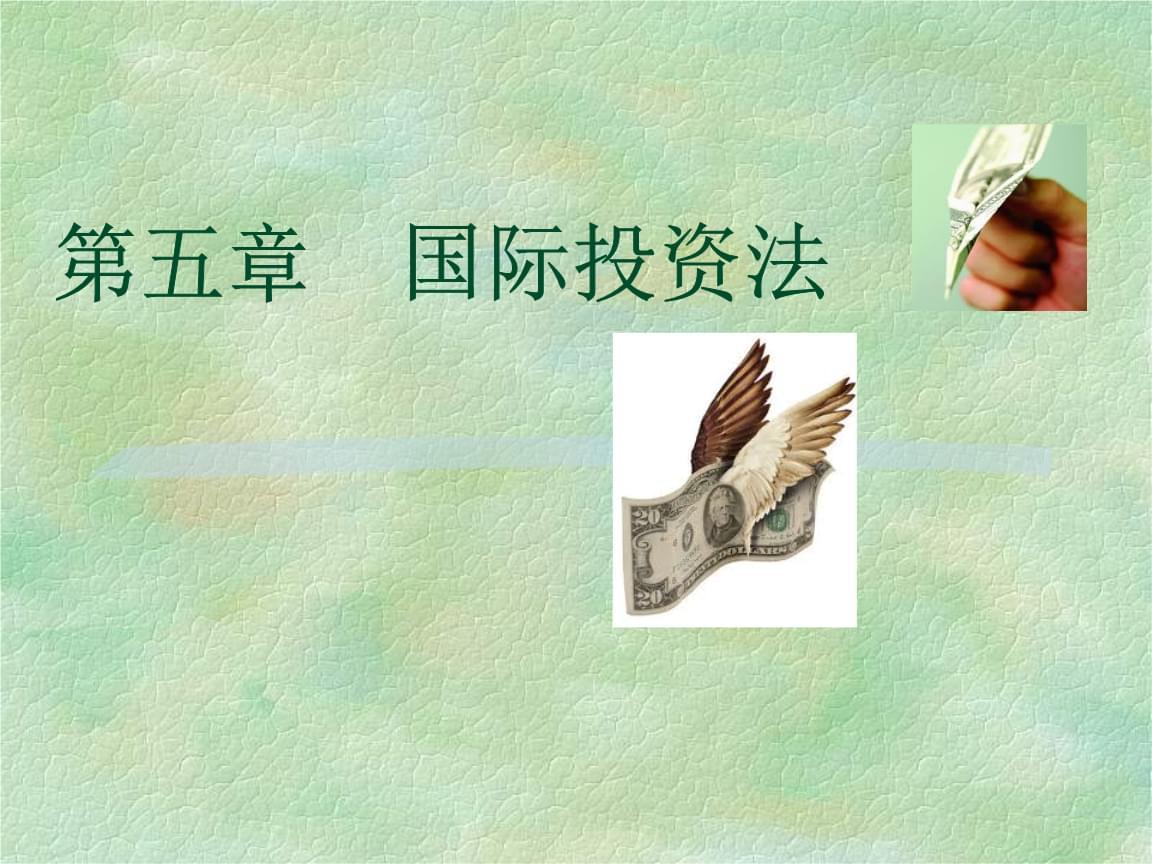 """中国政法大学·本科国际经济法·杨帆·国际投资法(考研用,非""""法考""""内容).ppt"""