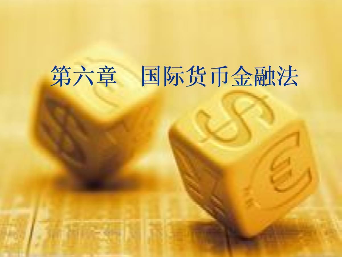 """中国政法大学·本科国际经济法·杨帆·国际货币金融法(考研用,非""""法考""""内容).ppt"""