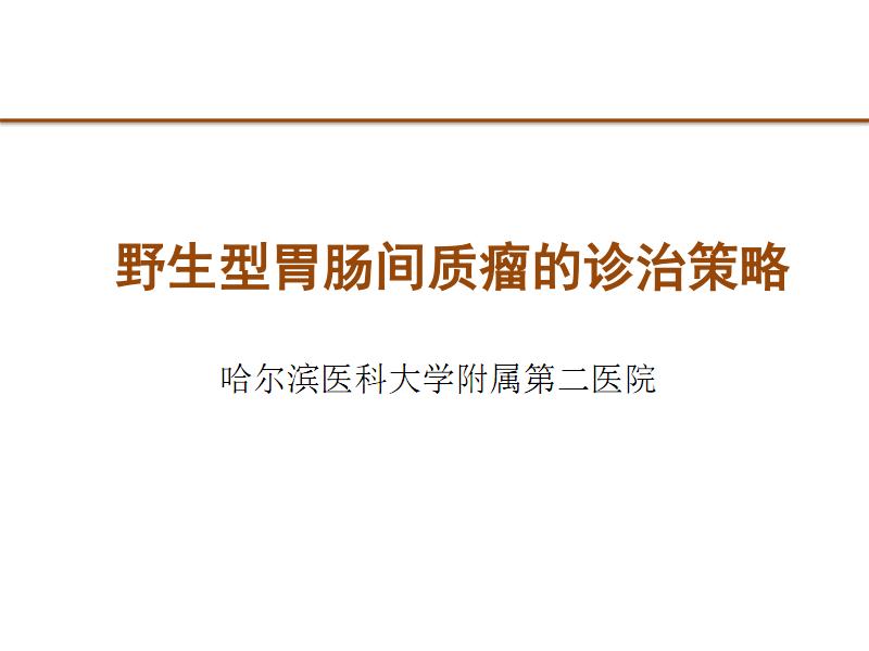 野生型胃肠间质瘤的诊治策略.pdf