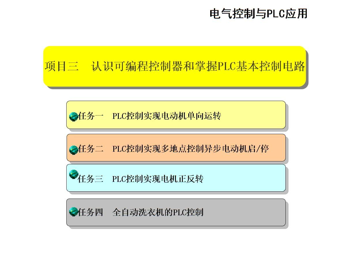 机电设备电气控制与PLC应用项目三.ppt