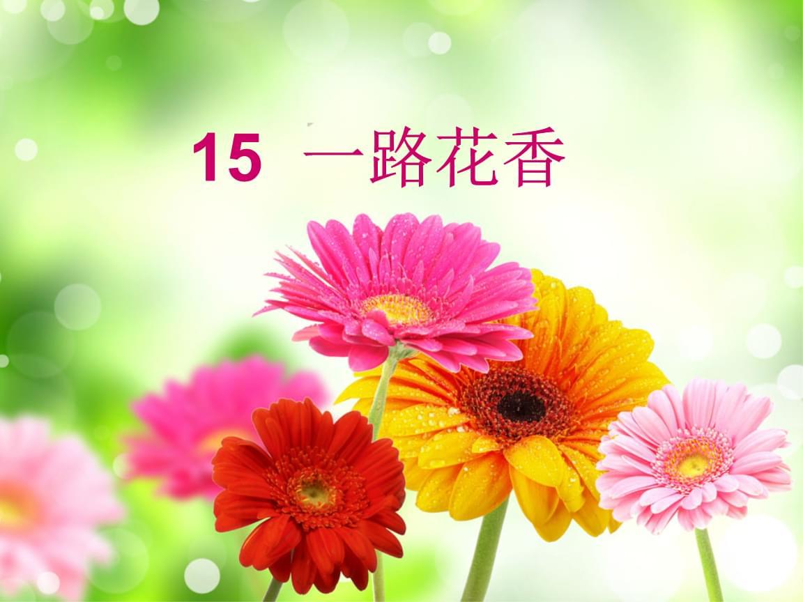 四年级上册语文一路花香苏教版 (3).ppt