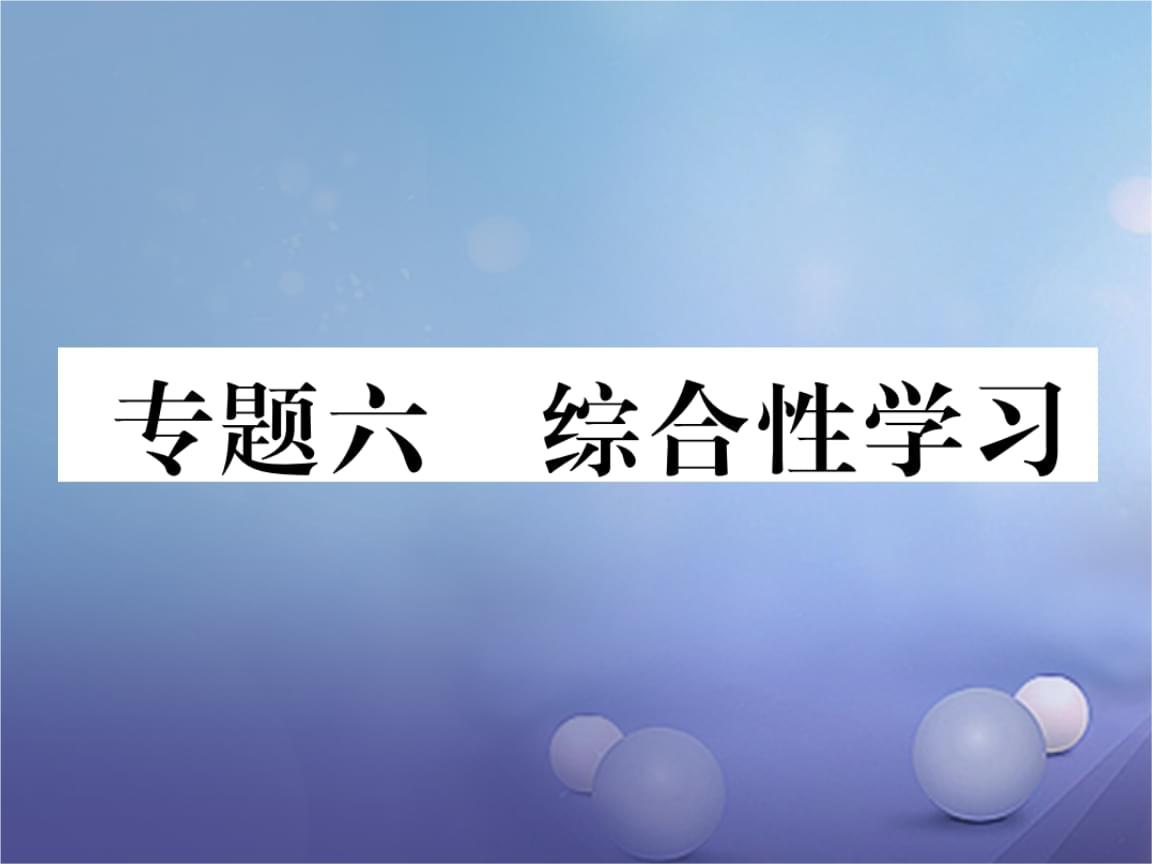 贵州省毕节市19年秋中考语文 专题六 综合性学习.ppt