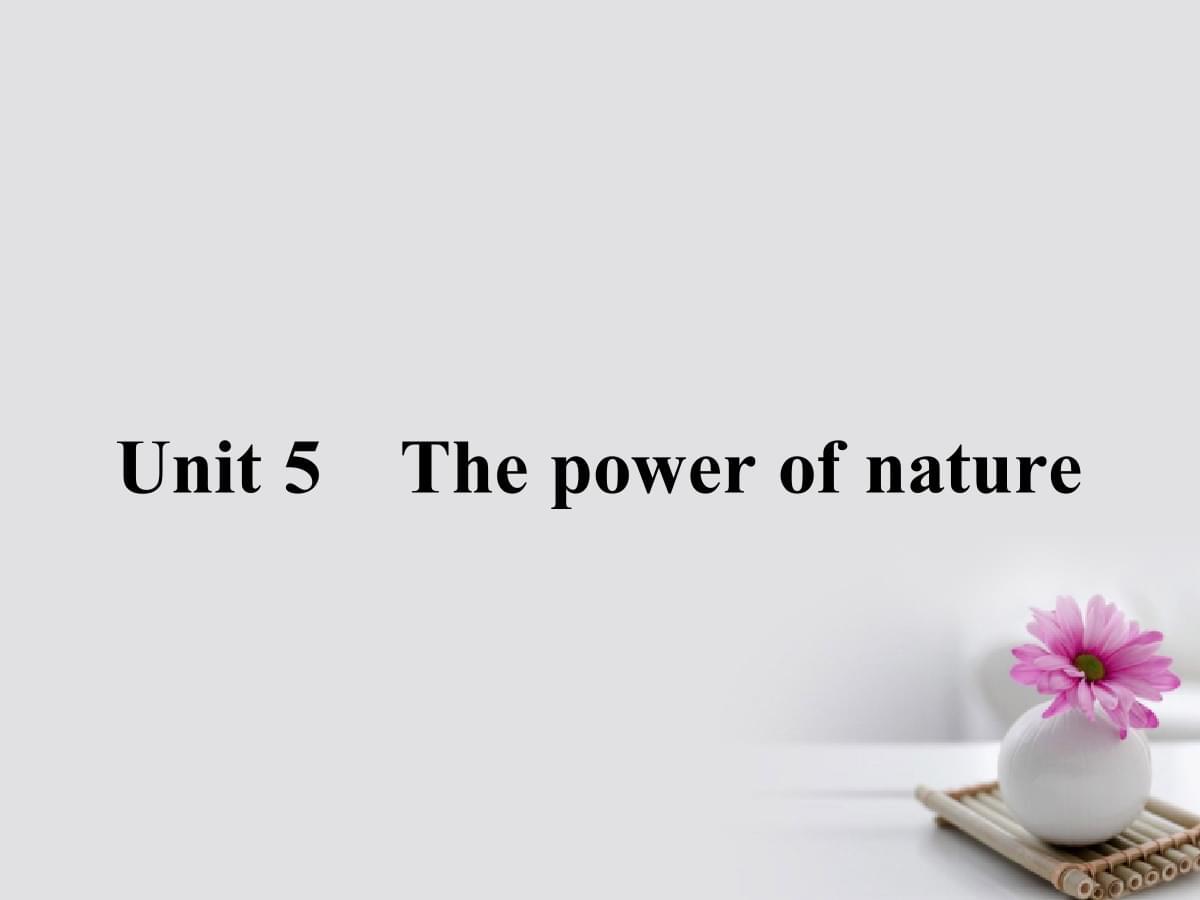 18-19学年高中英语 Unit 5 The power of nature Section Ⅰ 选修6.ppt