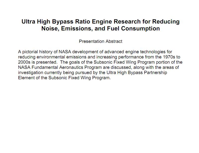 超高涵道比发动机降低噪声、排放和油耗的研究.pdf