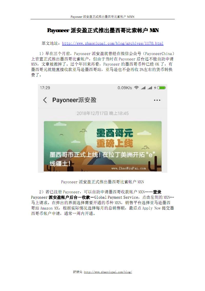 Payoneer派安盈正式推出墨西哥比索帐户MXN.pdf