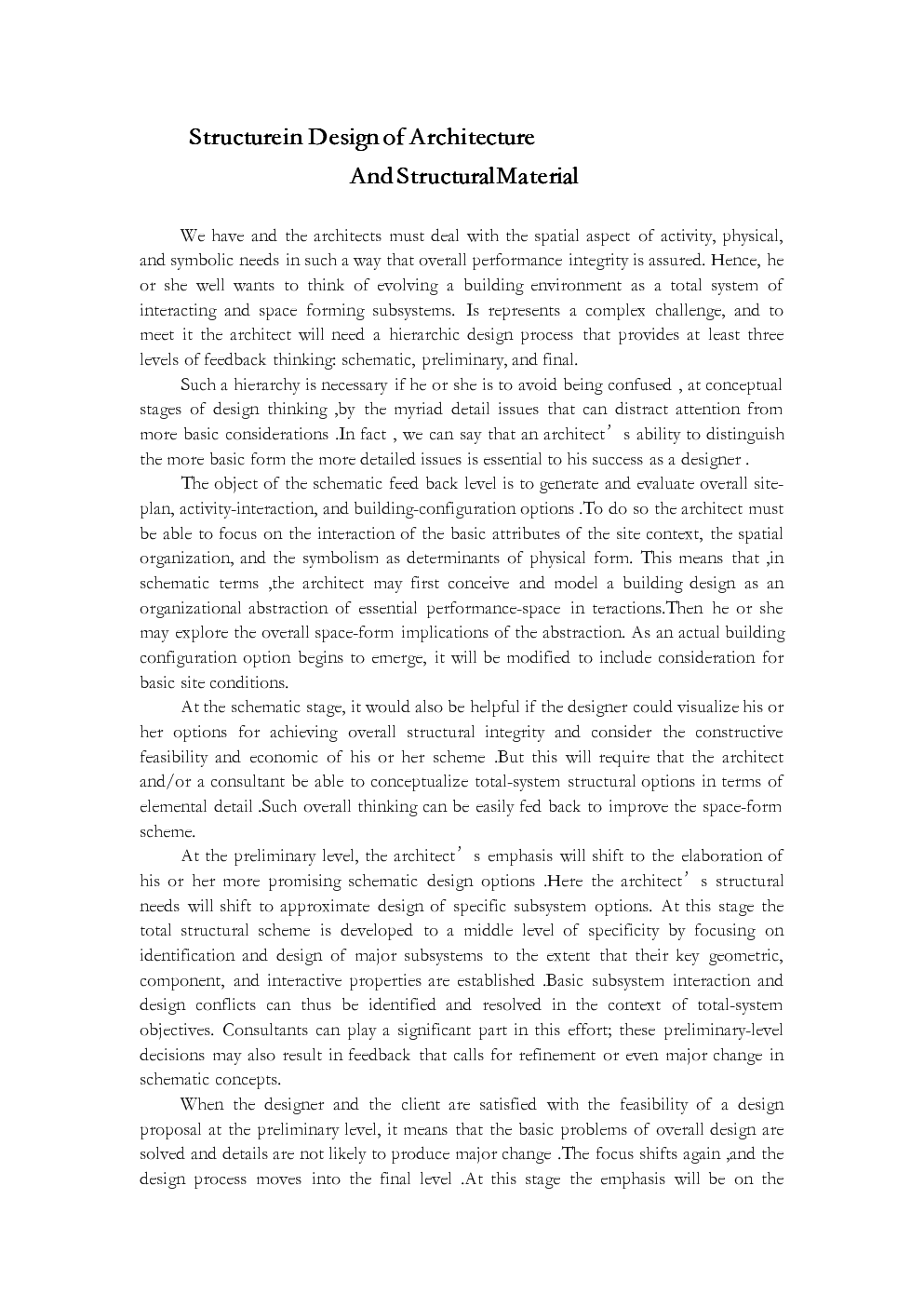 外文翻译---建筑中的结构设计及建筑材料.docx