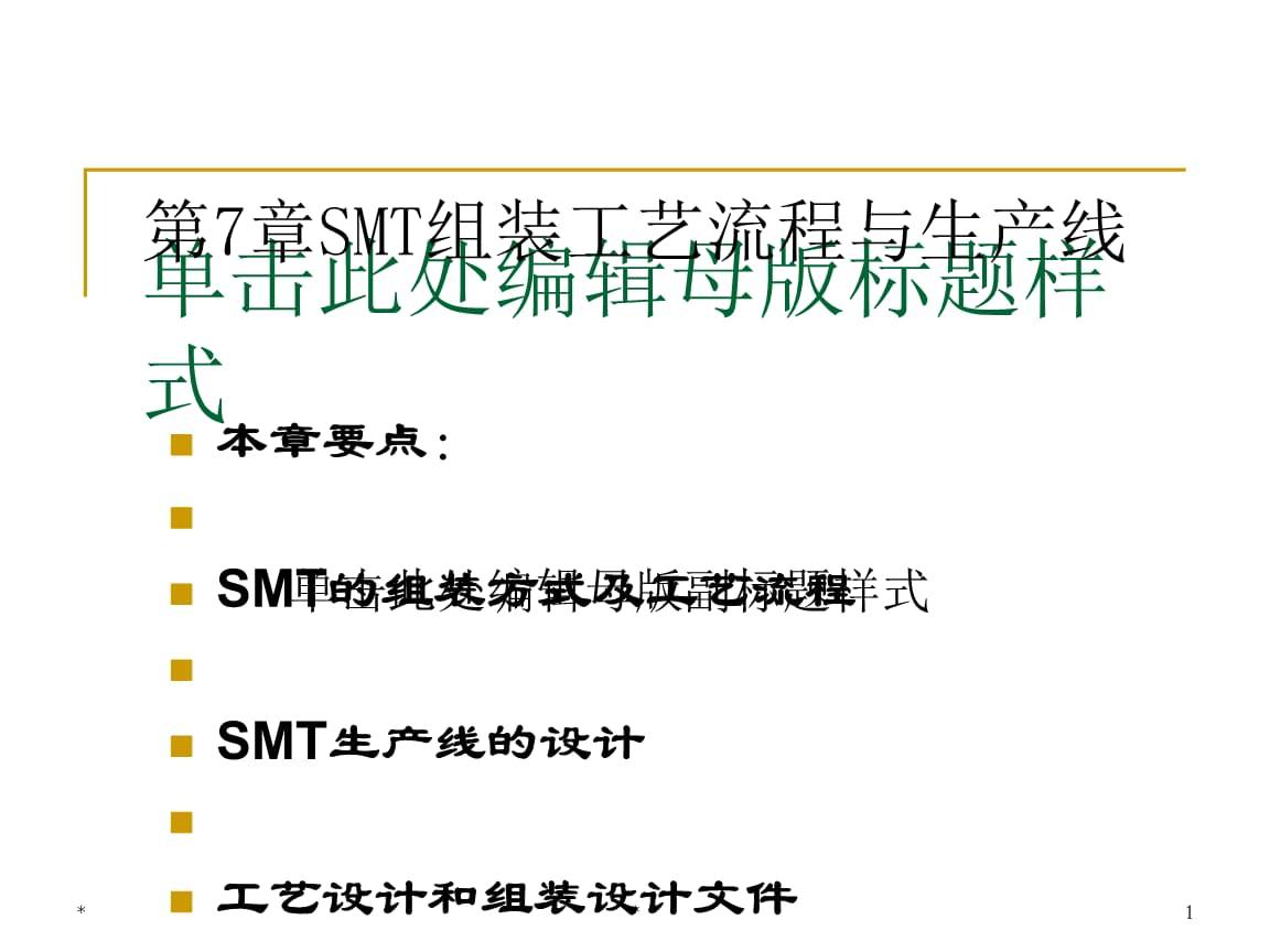 SMT组装工艺流程与生产线培训教材(PPT 40页).ppt