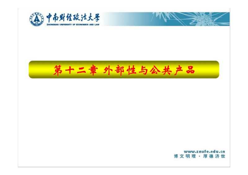 中南财经政法大学微观经济学第十二章 经济学科.pdf