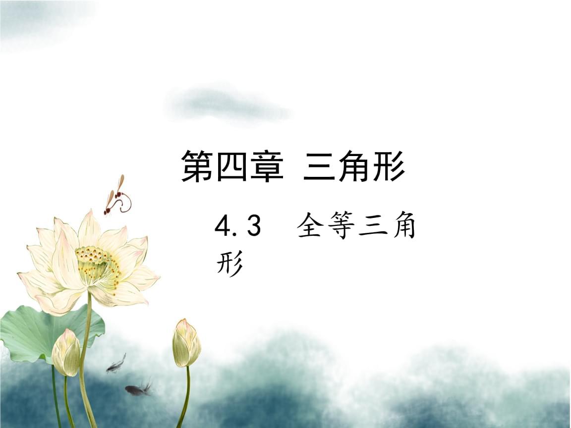 2019届中考数学复习第四章三角形4.3全等三角形课件.ppt