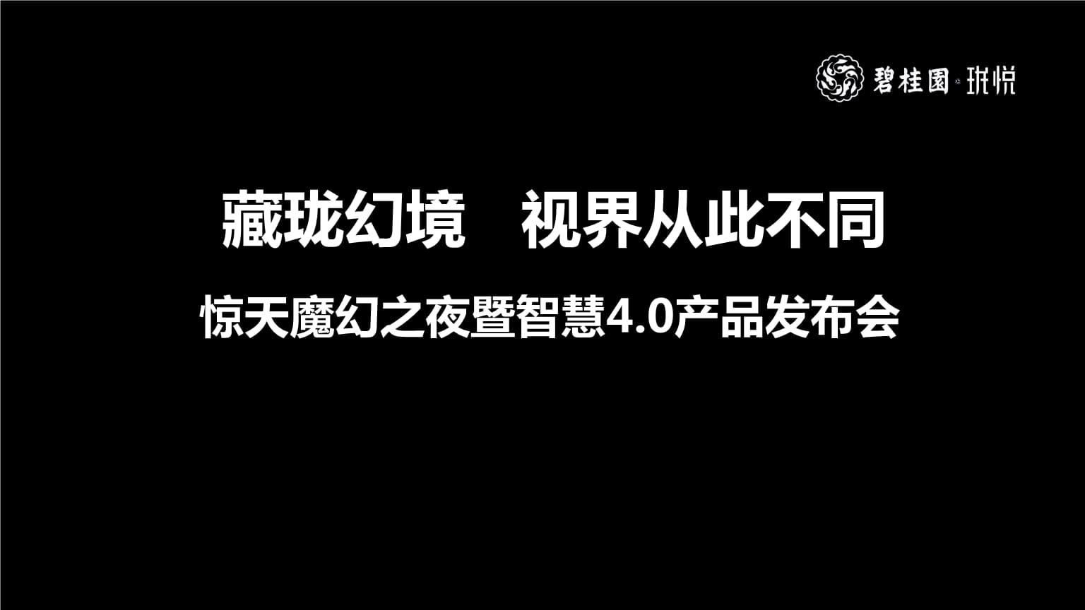 珑悦惊天魔幻之夜暨智慧4.0产品发布会策划案.pptx