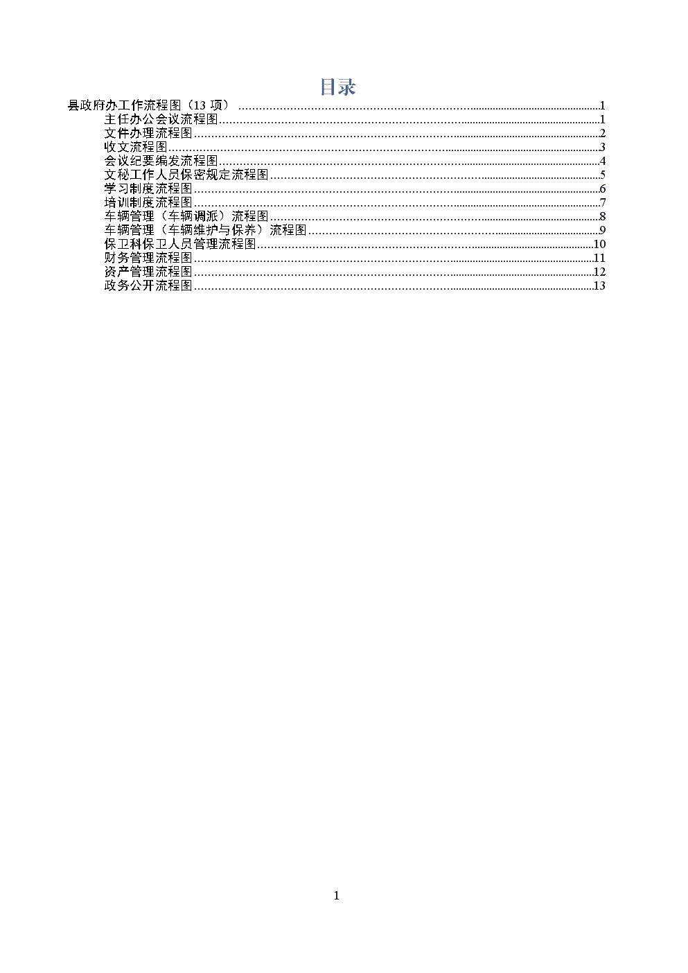 县政府办工作流程图13项.docx