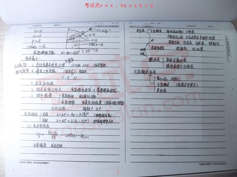 天津大学《化工原理》考研复习笔记(手抄版).pdf