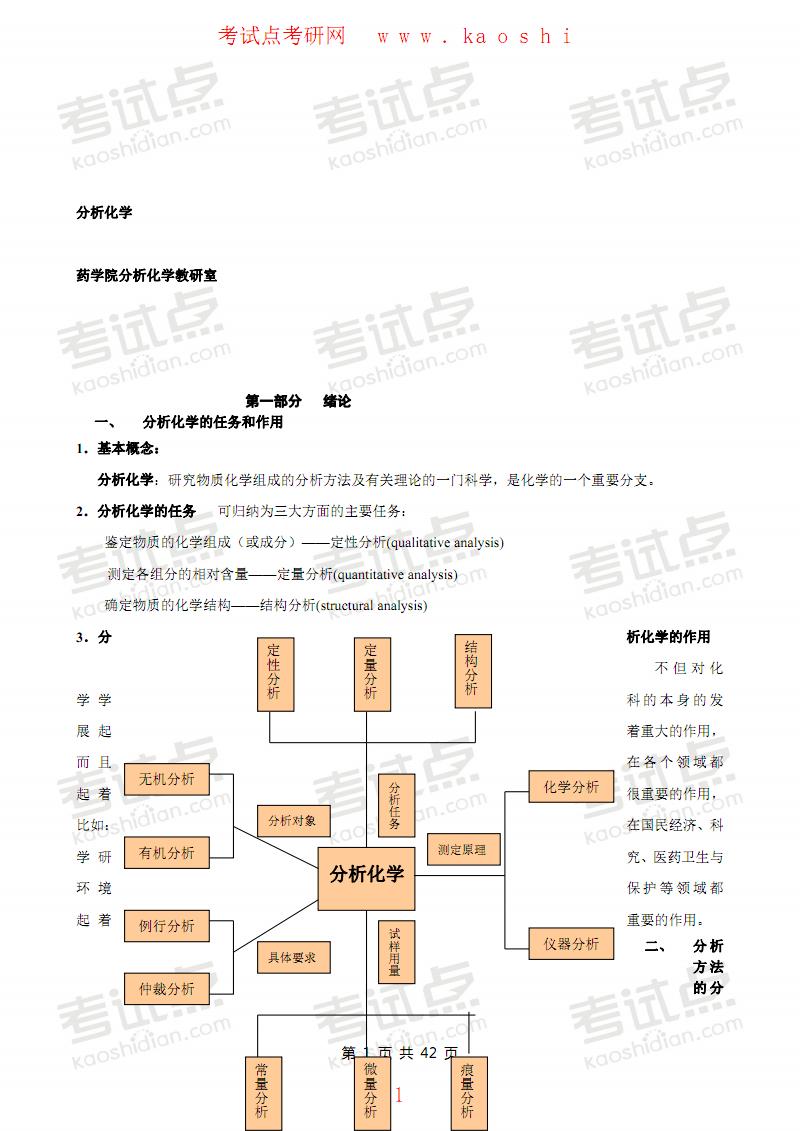 四川大学分析化学笔记.pdf
