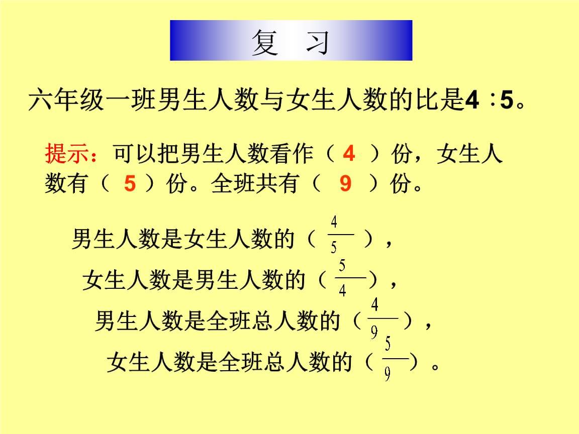 人教版六年级数学上册第三单元  4.3 比的应用.ppt