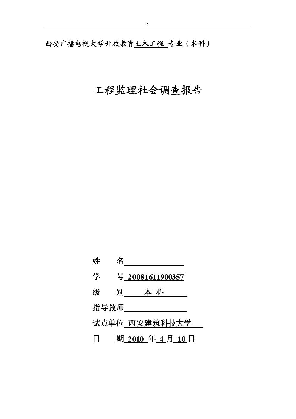 项目工程监察社会调查报告.doc
