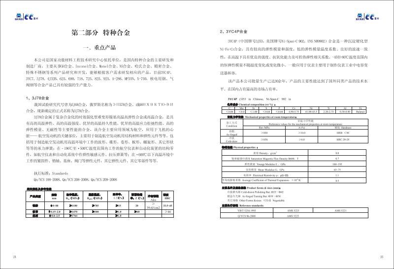 重庆材料研究院产品手册 - 特种合金部分.pdf