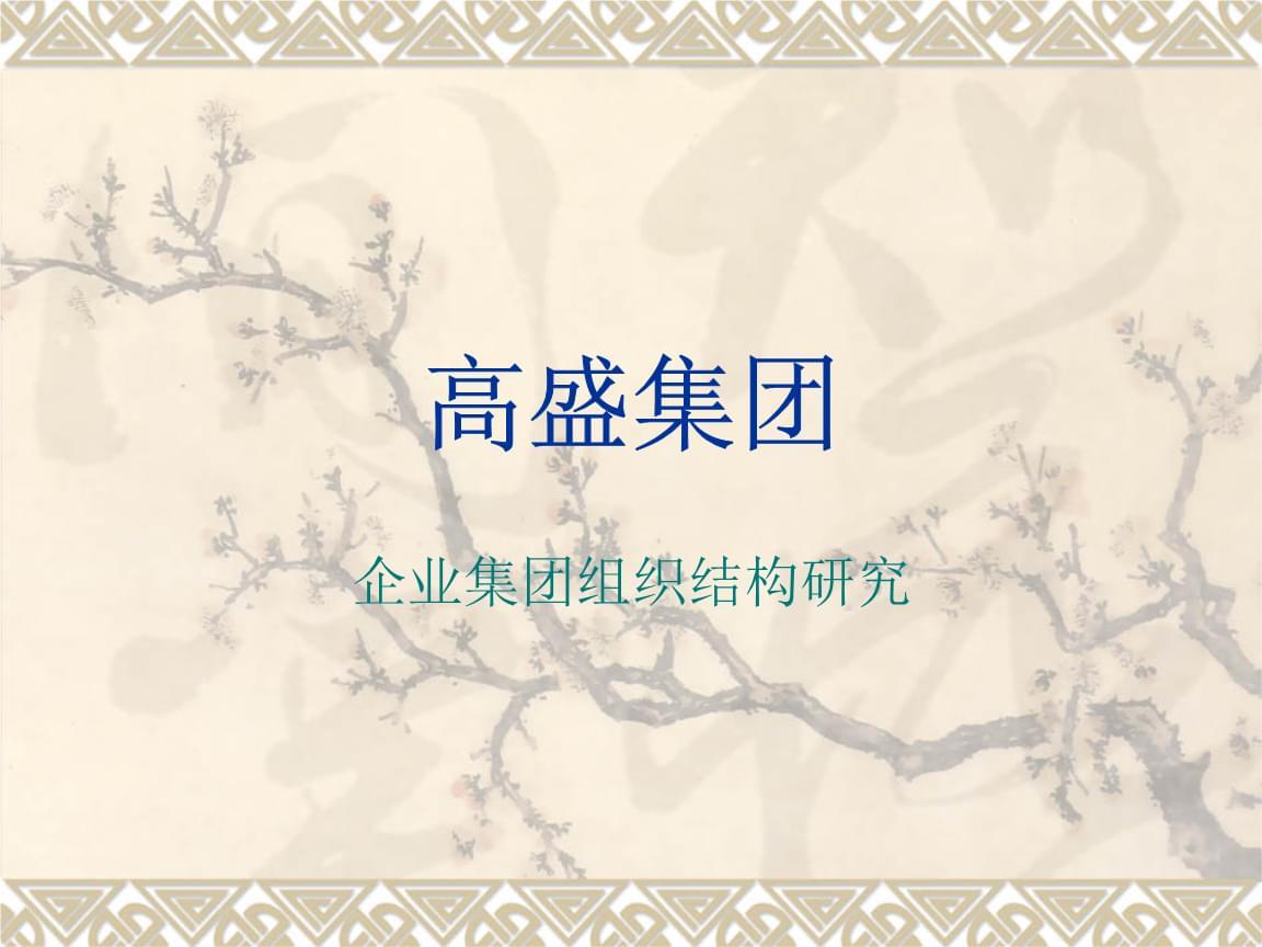 投资银行-高盛集团组织结构研究.ppt