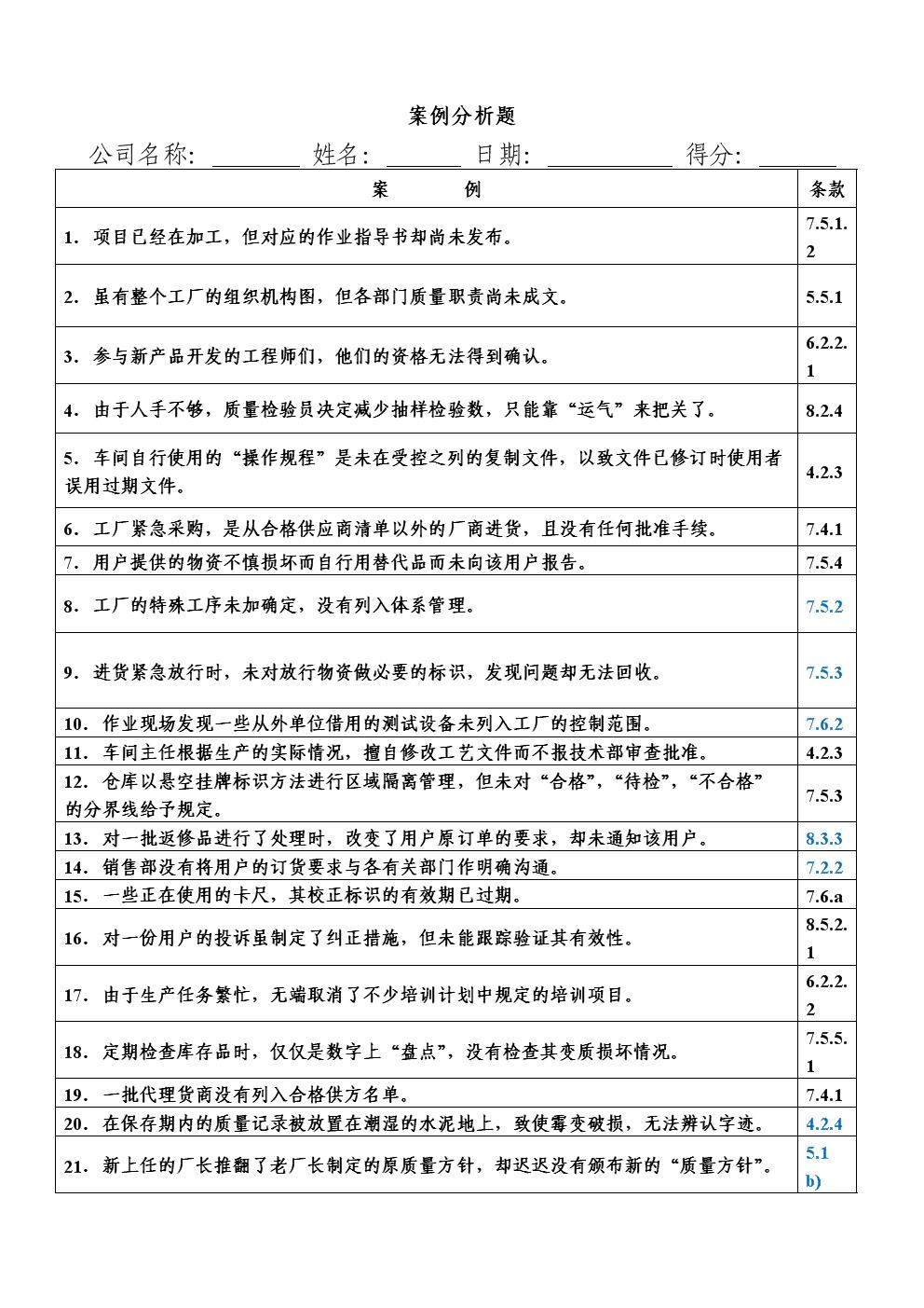 条款分析(题)及答案.doc