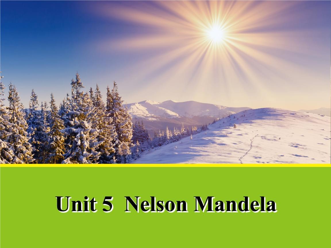 人教版 高中英语 必修一 Unit 5 Nelson Mandela 单词课件 44张PPT.pptx