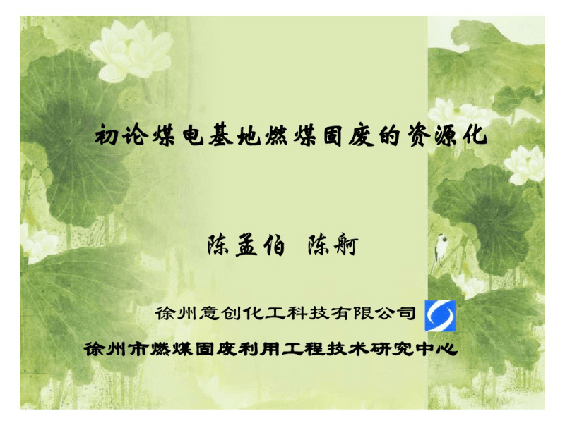 煤电基地燃煤固废的资源化.pdf