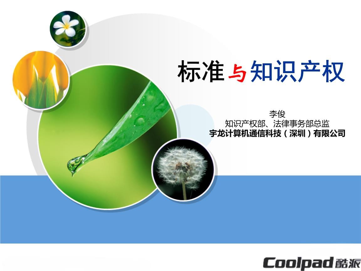 企业标准与专利部门的运作机制.ppt